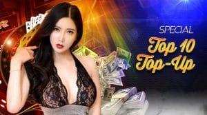 เติมเงินสูงสุด top10 รับไปเลย 2%